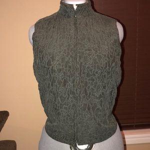 Eileen Fisher green vest